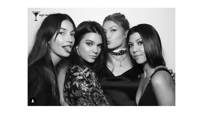 "<strong>Kourtney Kardashian </strong> <br><br> ""Happy birthday Gigi!"""