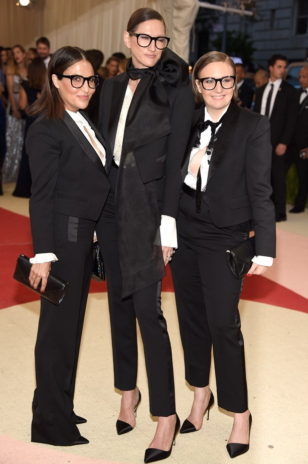 Lena Dunham and Jenna Lyons.