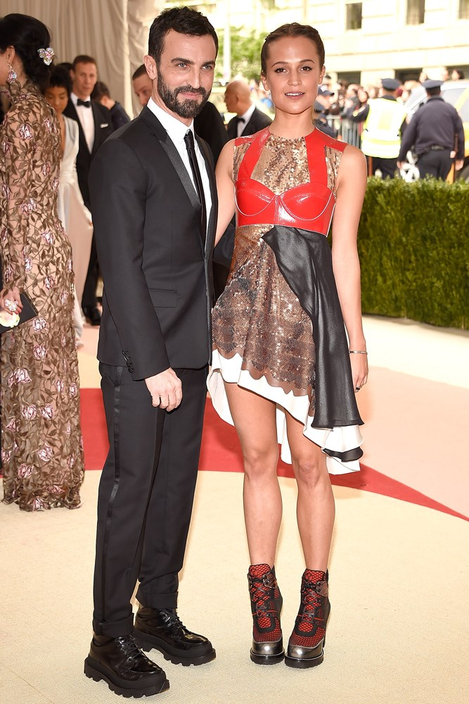Nicolas Ghesquiere and Alicia Vikander