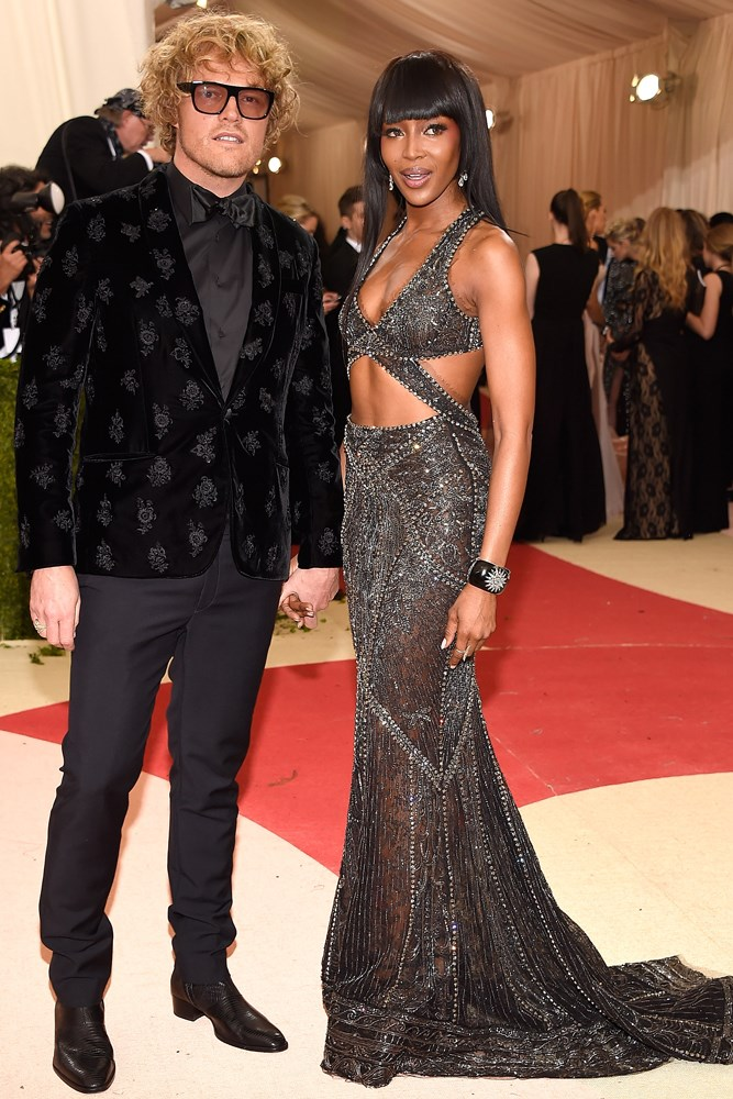 Peter Dundas and Naomi Campbell