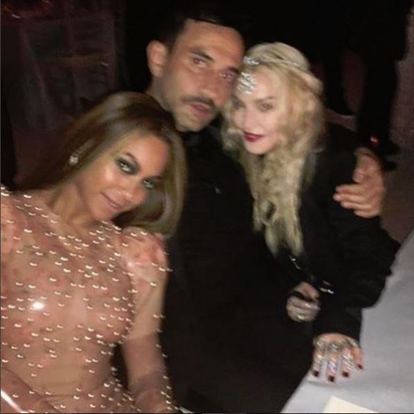 """@riccardotisci17: """"I love my GIRLS @beyonce @madonna in @givenchyofficial @metmuseum #greatnight""""."""