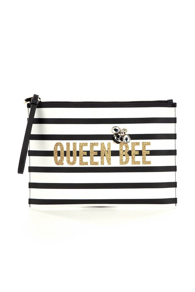 <em>Kate Spade Down The Rabbit Hole Queen Bee Bella Pouch</em>, $169, 02 9231 4353