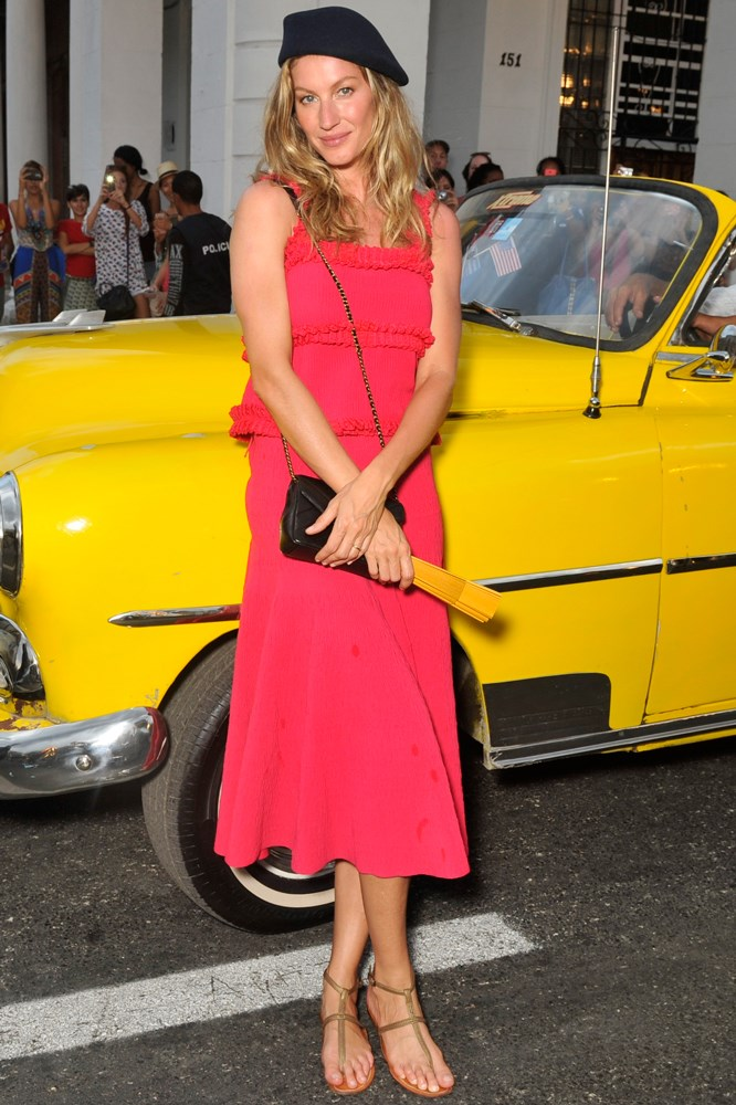 Gisele Bündchen at Chanel's Cruise show in Cuba