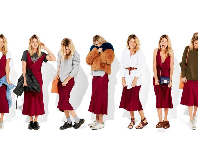 slip dress oufit ideas
