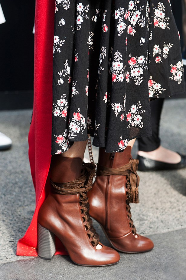 """These boots could have stepped straight down from the Fleetwood Mac stage circa 1975. They've actually walked right off the Chloé runway and are timeless teamed with a floral midi skirt that just touches their tops."""