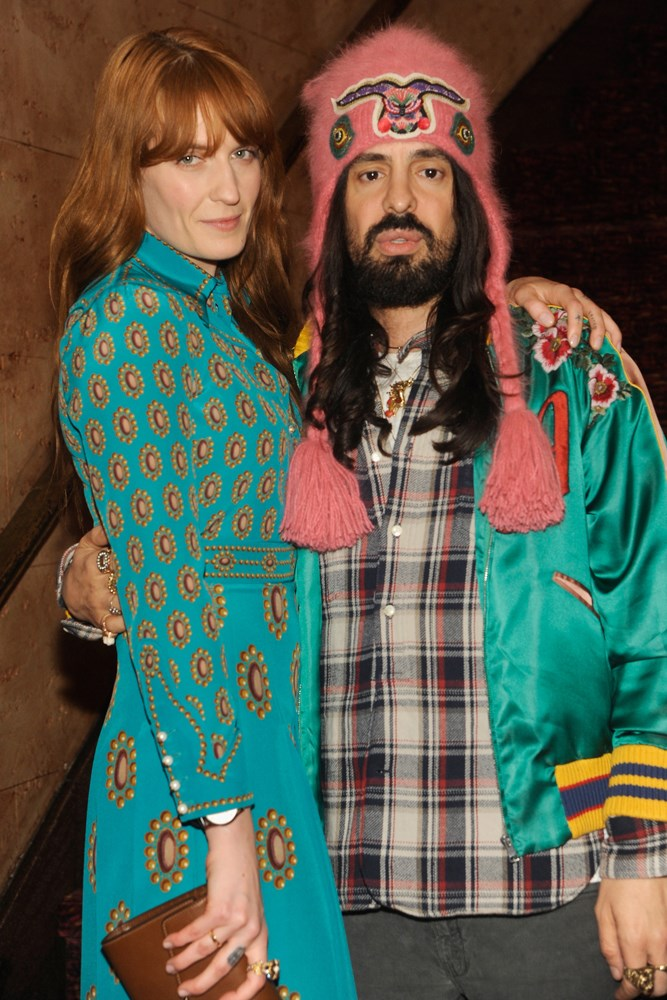 Florence Welch and Alessandro Michele