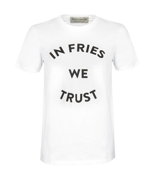 "Because everyone needs an ironic running tee.<br><br> T-Shirt, $104.66,<a href=""http://www.farfetch.com/au/shopping/women/etre-cecile--in-fries-we-trust-t-shirt-item-11238350.aspx?storeid=9214&ffref=lp_dn_2_2_"">Être Cécile</a>."