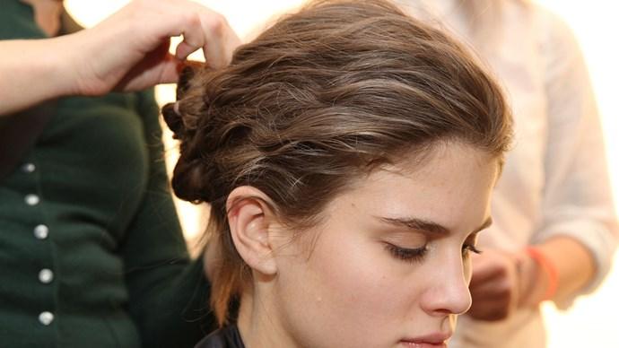 Backstage hair.