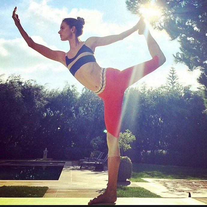 """</p><p><b>Yoga</b></p><p> Towersey says yoga should be an essential component of the training plan of anyone who prioritises recovery, stress management, and mobility, like Alessandra Ambrosio.</p><p> """"The mobility component translates directly into being able to achieve an optimal range of motion during weights based exercise in the gym prevents injury; the low-impact nature of it makes it a great recovery activity; and the breathing or meditative aspect is a fantastic stress management tool,"""" she says.</p><p> She recommends hot yoga for women because it addresses digestion and detoxification using heat and twisting movements – which are both necessary components of any weight loss or fat loss program. """"When used in combination with cardio and/or weight training, you can expect to balance strength and flexibility to create a long and lean silhouette."""""""