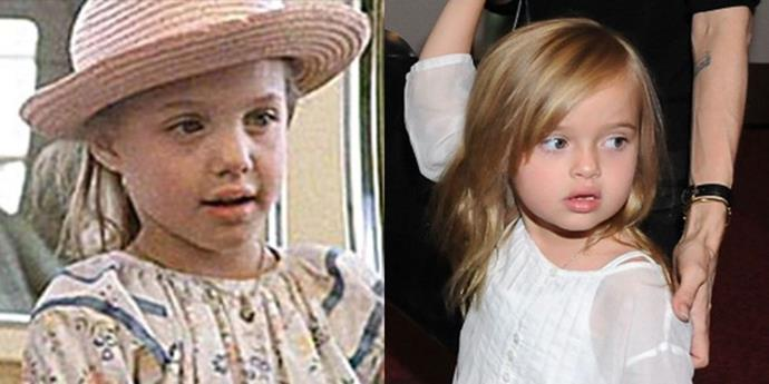 <strong>Angelina Jolie and Vivienne Marcheline Jolie-Pitt</strong> <br><br> At 7 years old.
