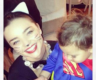 Miranda Kerr and Flynn Bloom.