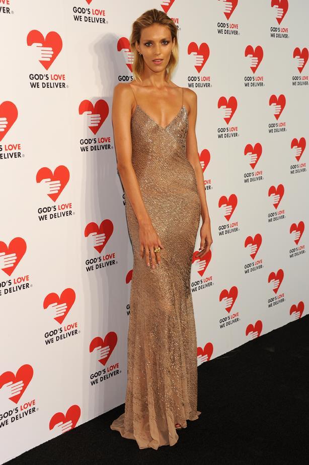 <strong>Anja Rubik, October, 2013</strong> <br><br> God's Love We Deliver 2013 Golden Heart Awards Celebration.