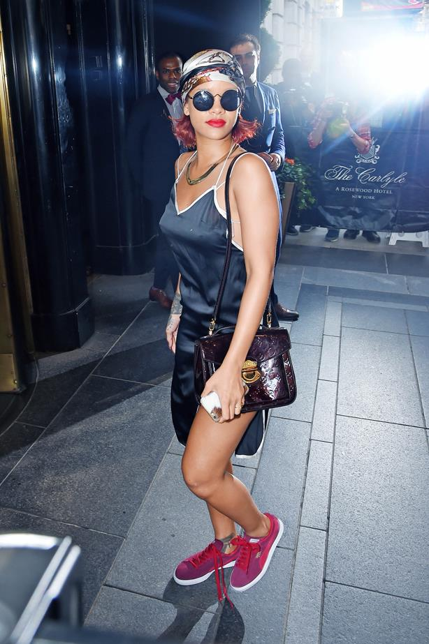 <strong>Rihanna, May 2015</strong> <br><br> Out and about.