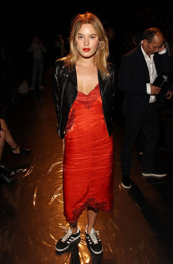 <strong>Camille Rowe, September 2015</strong> <br><br> rag & bone Spring 2016 fashion show.
