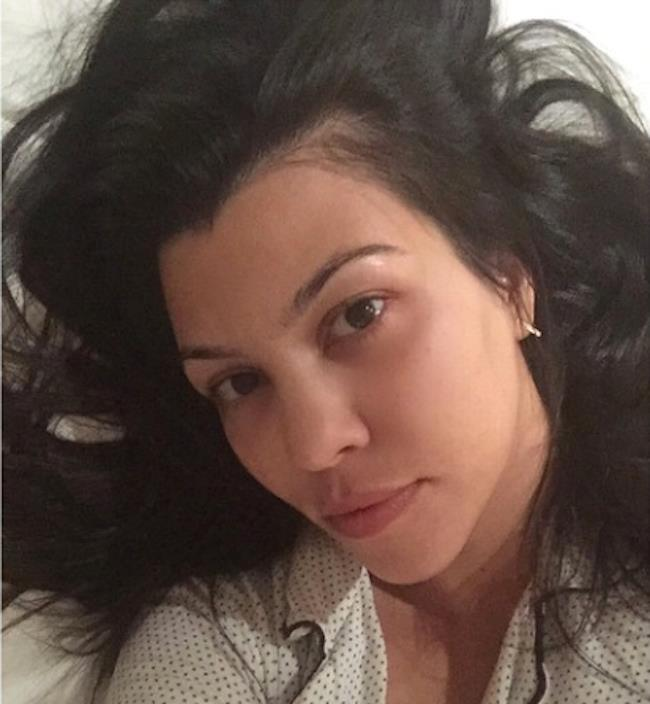 <strong>Kourtney Kardashian.</strong><br><br> When your bed hair won't fit in your selfie. (First world problems.)