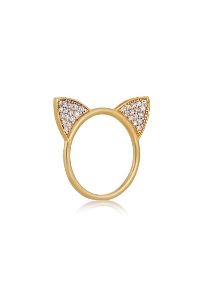 """<a href=""""https://www.net-a-porter.com/au/en/product/684055/Aamaya_By_Priyanka/cat-ears-gold-plated-topaz-ring"""">Ring, $376, Aamaya By Priyanka at net-a-porter.com</a>"""