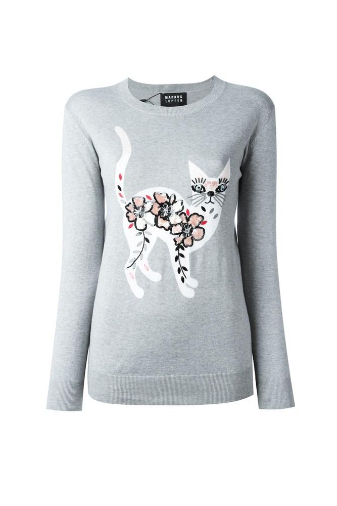 "<a href=""http://www.farfetch.com/au/shopping/women/markus-lupfer-sequinned-cat-jumper--item-11243658.aspx?storeid=9214&ffref=lp_pic_198_5_"">Jumper, $530, Markus Lupfer at farfetch.com</a>"