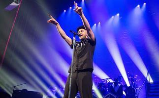 Justin Timberlake performs at L'Olympia in Paris in 2014.