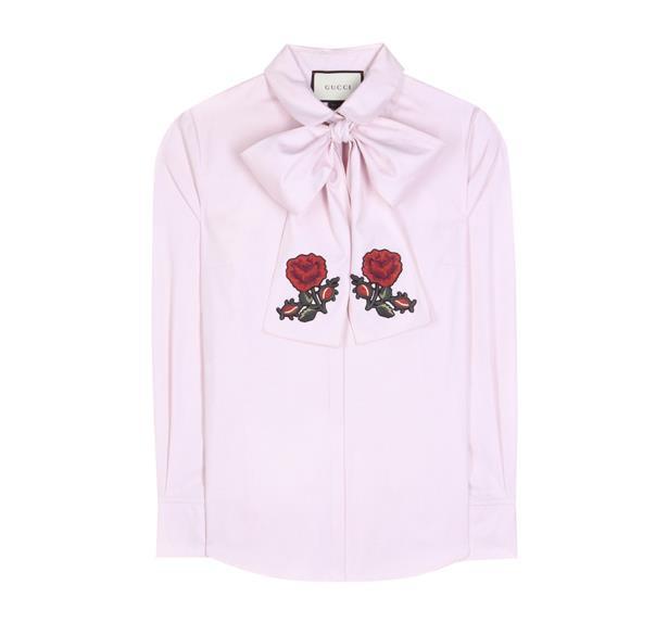 Gucci button-up shirt.
