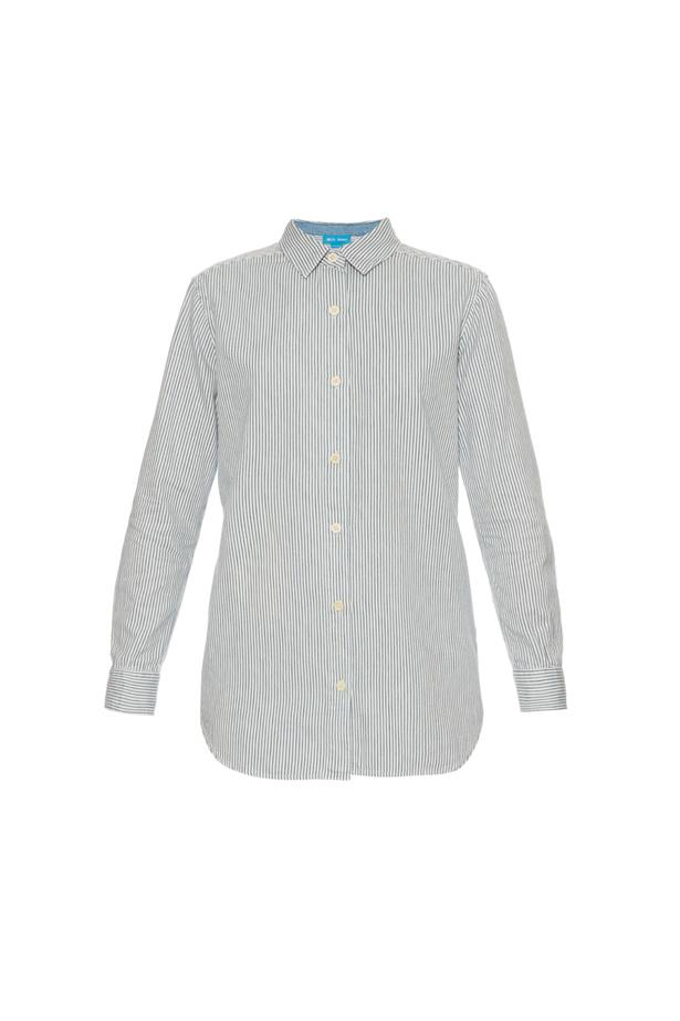 """Shirt, $355, <a href=""""http://www.matchesfashion.com/au/products/M-i-h-Jeans--Point-collar-striped-shirt--1043637"""">M.I.H Jeans</a>."""