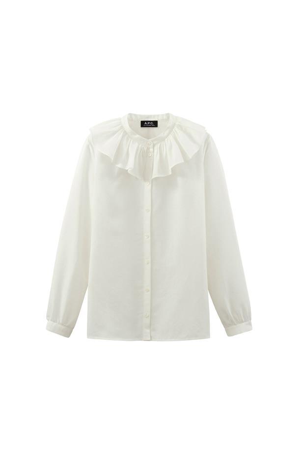 "Shirt, $309, <a href=""http://www.apc.fr/wwuk/women/ready-to-wear/blouses-shirts/sixtine-shirt-mdaab-f12234.html#Off white&12"">A.P.C.</a>"