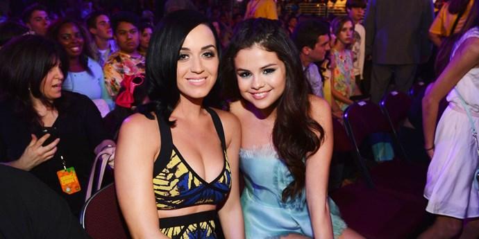 Selena Gomez and Katy Perry.