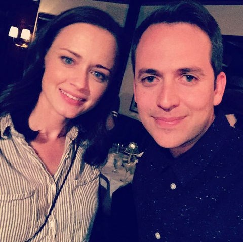"""Alexis Bledel and Alan Loayza: """"""""Went to a small shindig last night. Her name is Alexis Bledel aka Rory Gilmore aka my Sista from another Mista. #gilmoregirls #gilmoregirlsrevival #alexisbledel #roryandcolin""""."""