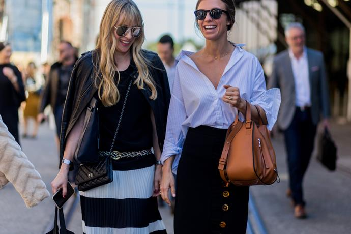 Almira Armstrong and ELLE's fashion editor Emma Kalfus