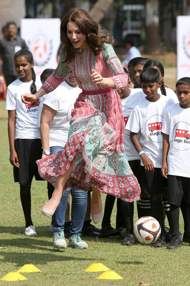 And that time she played soccer in Mumbai.