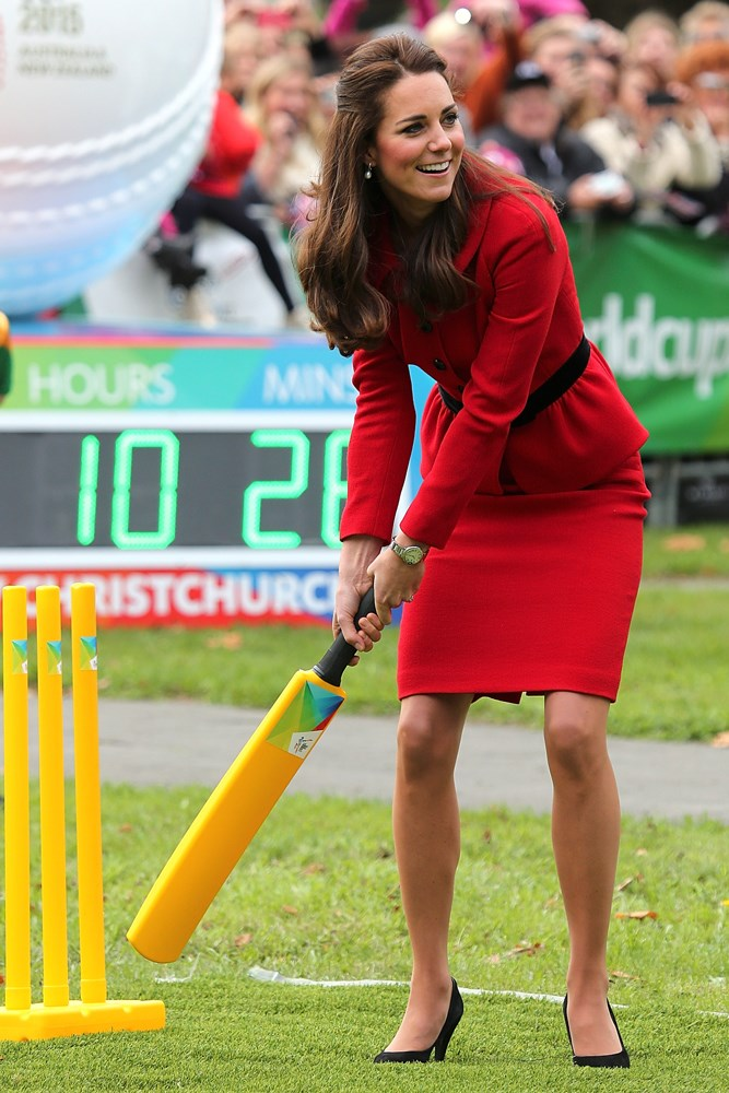 Cricket in a blowdry and heels.