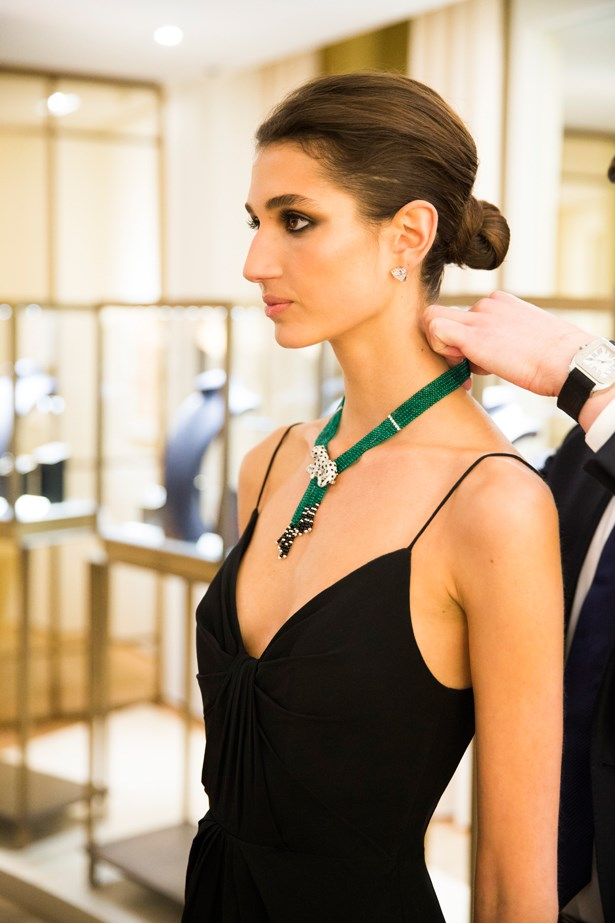 Cartier diamond necklace.