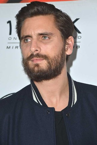 Television personality Scott Disick arrives at 1 OAK Nightclub at The Mirage Hotel & Casino.