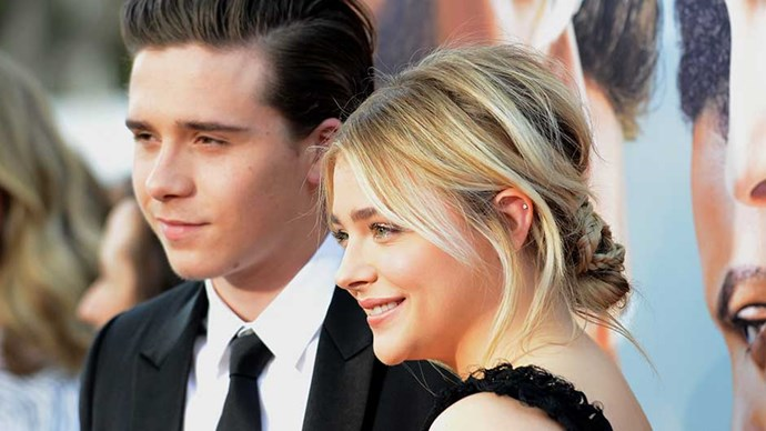 Chloe Grace Moretz and Brooklyn Beckham at the Los Angeles premiere of Bad Neighbours 2.