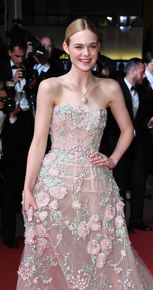 Bella Hadid at the Cafe Society premiere at Cannes Film Festival 2016.