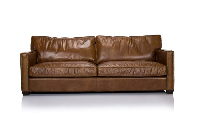 "<strong>Leather sofa.</strong><br><br> They just get better with age. Forget about the colours and fabrics that everyone is fan-girling over and head straight for leather. Sure, you might have to eat leftovers in front of Netflix for a while, but who cares when you're <em>that</em> comfy.<br><br> Sofa, $4995, <a href=""http://www.cocorepublic.com.au/viscount-william-3-seat-sofa-2411"">Timothy Oulton</a>"