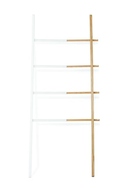 "<strong>Ladder.</strong><br><br> A no-brainer storage solution. Ladders are such chameleons. They blend into the background and play nice with all trends. And they barely take up any space so you won't walk into them all the time. The real winner.<br><br> Ladder, $199, <a href=""http://opusdesign.com.au/products/hub-laddar-white"">Hub </a>"