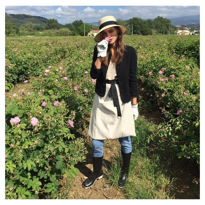 """@phoebejtonkin: """"Thank you @chanelofficial for the beautiful day picking flowers for the #newchanel5 perfume in the delicious Grasse, France. #chanelgrasse""""."""
