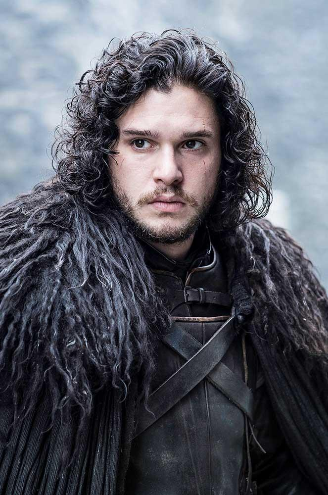 """</p><p><b>Jon Snow</b></p><P> The maybe-alive-maybe-dead bastard of Winterfell is played by Kit Harington, who's been <a href=""""http://www.elle.com/culture/celebrities/news/a36071/kit-harington-on-jon-snow-revival/"""">lying to us</a> about his character's fate all this time."""