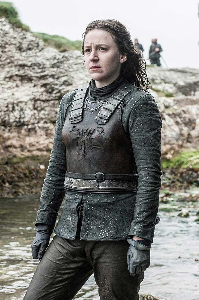 </p><p><b>Yara Greyjoy</b></p><p> Straight from the Iron Islands, Theon's ass-kicking sister Yara Greyjoy is played by <em>Gulliver's Travels</em> actress Gemma Whalen.