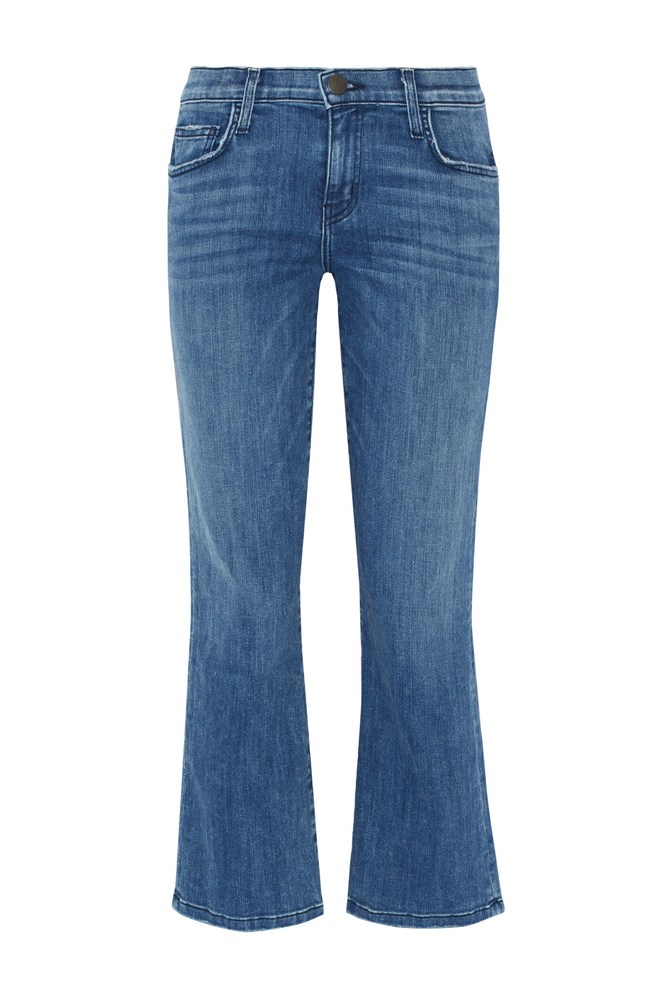 "<a href=""https://www.net-a-porter.com/au/en/product/716883/Current/Elliott/The-Kick-cropped-mid-rise-flared-jeans"">Jeans, $360, Current/Elliott at net-a-porter.com </a>"