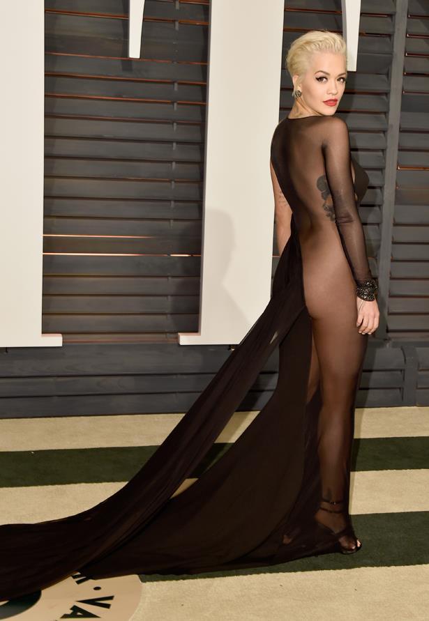 Rita Ora's Donna Karan made a statement at the Vanity Fair After Party.