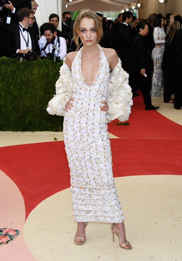 Lily-Rose Depp at the 2016 Met Gala.