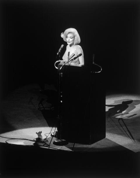 """<p><strong>MARILYN MONROE, 1962</strong><p><p> When Marilyn Monroe sang <a href=""""https://www.youtube.com/watch?v=EqolSvoWNck"""">""""Happy Birthday, Mr. President""""</a> to John F. Kennedy at Madison Square Garden, she wore the O.G. naked dress, a skintight column designed by Jean Louis that was covered in 2,500 rhinestones. The designer had to sew it onto the actress, who had specifically requested that the dress make her look """"sparkling and naked,"""" according to Hal Rubenstein. """"I can now retire from politics after having had 'Happy Birthday' sung to me in such a sweet, wholesome way,"""" Kennedy said after he took the stage."""