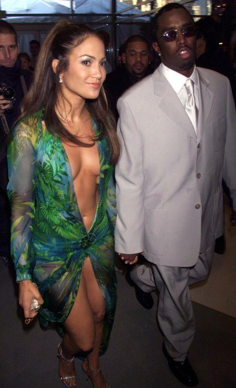 """<p><strong>JENNIFER LOPEZ, 2000</strong><p><p> The dress was truly plunging; it went down past her belly button. The public had such an insatiable desire to see the dress that it launched a new technology. According to Google's Eric Schmidt, """"At the time, it was the most popular search query we had ever seen. But we had no surefire way of getting users exactly what they wanted: J.Lo wearing that dress. Google Image Search was born."""""""