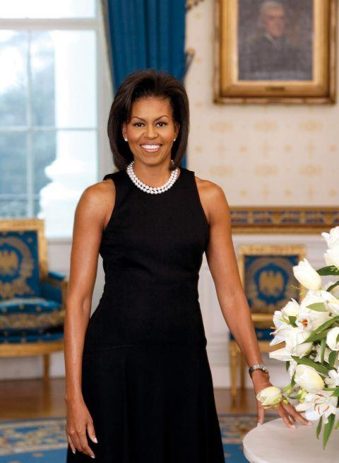 """<p><strong>MICHELLE OBAMA, 2009</strong><p><p> While you'd think that nothing could less interesting than a classic black sheath worn with a double-stranded pearl necklace, people somehow got really outraged over this Michael Kors dress that Michelle Obama wore for her first official portrait as first lady. The reason for the public indignation? The exposed arms. It wasn't the first time an American first lady had gone sleeveless, but there was something about Obama's toned biceps and firm shoulders. New York Times columnist Maureen Down put it this way: """"Let's face it: The only bracing symbol of American strength right now is the image of Michelle Obama's sculpted biceps."""""""