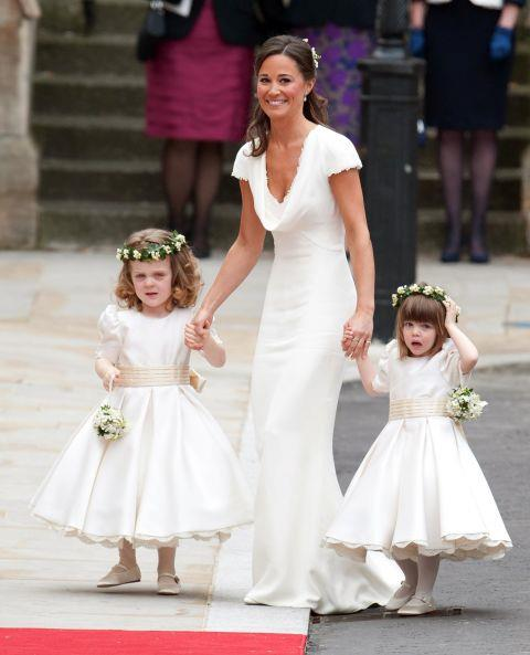 <p><strong>PIPPA MIDDLETON, 2011</strong><p><p> When Kate Middleton married Prince William and went from being a commoner to the Duchess of Cambridge, Pippa Middleton tended to her sister as a bridesmaid, helping with Kate's nearly 9-foot-long satin train. Pippa's dress, designed by Sarah Burton of Alexander McQueen, ended up nearly upstaging Kate because of the way it fit so snugly over Pippa's figure, specifically her bottom.