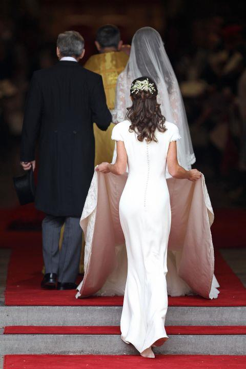 """<p><strong>PIPPA MIDDLETON, 2011</strong><p><p> """"I think the plan was not really for it to be a significant dress. Really just to sort of blend in with the train,"""" Pippa said in 2014. """"I suppose it's flattering, embarrassing, definitely. It wasn't planned."""""""