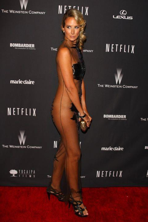 """<p><strong>VICTORIA HERVEY, 2014</strong><p><p> The always attention-seeking British socialite Lady Victoria Hervey wore what amounted to a sheer body stocking to a Golden Globes party in 2014. Before stepping out in the Guarav Gupta dress, and seemingly without any undergarments on, she posted a cheeky message to social media: """"It feels so good to wear clothes again."""" Uh huh."""