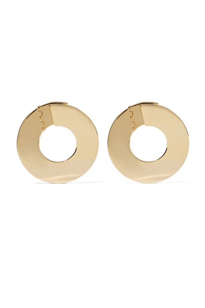 "<a href=""https://www.theoutnet.com/en-AU/product/Noir-Jewelry/Farrah-gold-tone-earrings/674893"">Earrings, $68, Noir Jewelry at theoutnet.com</a>"