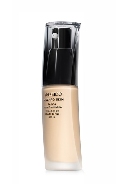 "The base that stays in place all day.<br><br> <strong>Synchro Skin Foundation, $72, <a href=""https://www.shiseido.com.au/makeup/?utm=16SS-MAIN-SMK-b"">Shiseido</a></strong>"
